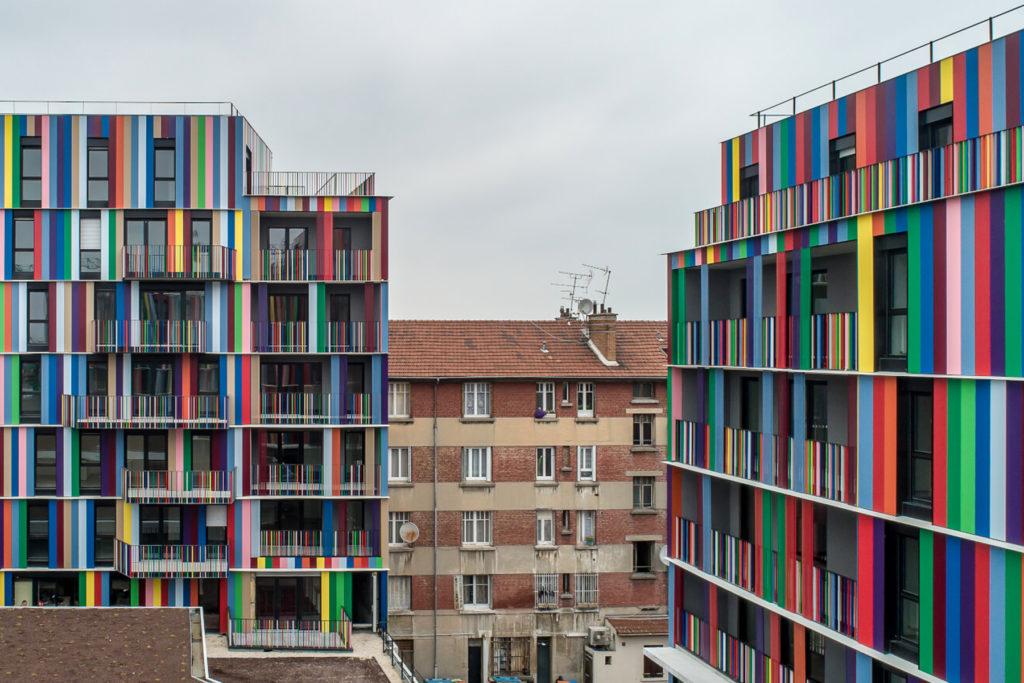 « CHROMATIC » 130 logements, commerces, halle et place îlot du marché / la courneuve (93)