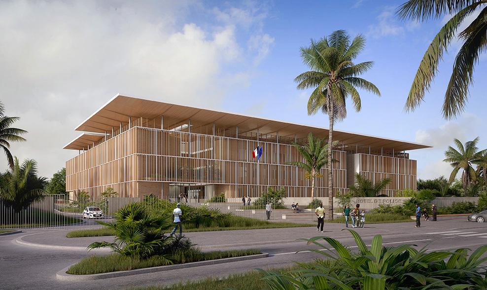 Hôtel de Police - Cayenne [Guyane]